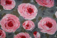 ::Vintage Flannel Rose Fabric::