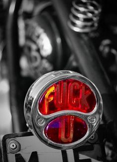 Excellent use of Plastic to convey how you feel Vintage Motorcycles, Harley Davidson Motorcycles, Custom Motorcycles, Custom Bikes, Cars And Motorcycles, Custom Choppers, Bobber Motorcycle, Motorcycle Equipment, Bobber Bikes