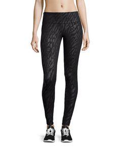 Foiled Long Sport Leggings, Black  by Marika Tek at Neiman Marcus Last Call.