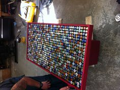 Beer cap table for the man cave
