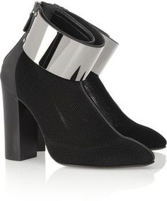 I NEED THESE IN MY LIFE!! Estéban Paris Cortazar Honeycomb-mesh cuffed ankle boots