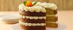 This sweet apricot dessert is topped with decadent cream cheese frosting and is large enough to satisfy a crowd. Cake With Cream Cheese, Cream Cheese Frosting, Apricot Dessert, Cake Decorating Techniques, Cake Plates, How To Make Cake, Vanilla Cake, Food Processor Recipes, Cheesecake
