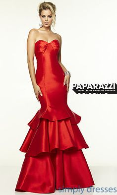Strapless Mori Lee Dress with Mermaid Skirt at SimplyDresses.com