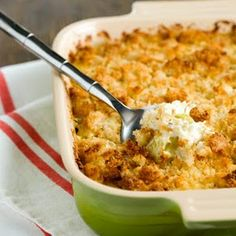 Classic chicken divan. Creamy chicken and broccoli casserole topped with cheese and breadcrumbs. Make it even cheesier with extra Cheddar or Gruyere on top.