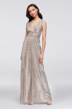Wanshaqin Mother of The Bride Floral Sequins Embellished Halter Chiffon Formal Wedding Party Evening Gown