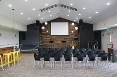 youth worship space | row+harlow interior design