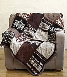 Ravelry: Fireside Patchwork Afghan pattern by Nicky Epstein. This pattern is available for free.