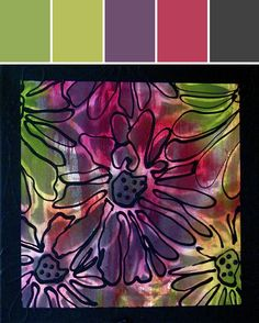 Floral Splash 1 Designed By Ellie Hanson, NexTrendDesign.com via Stylyze  #colourpalettesilove