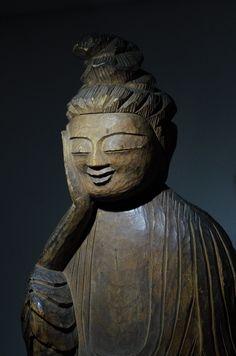 """""""Shiyui Bosatsu"""" Bodhisattva by Enku (buddist monk 1632-1695 ) Takayama Museum of History and Art,  Gifu Pref. Japan"""