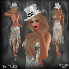 4d10fbeec2 Second Life Marketplace -   DBL   Tantalize Silver New Year Dress New Years