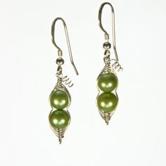"Two Peas in a Pod - Freshwater Pearls $26 Approx. length: 3/4"" drop"