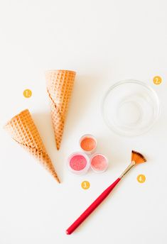 Pretty up your ice cream cones with luster dust!