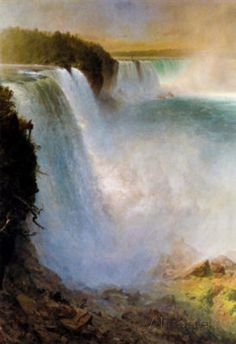 frederick church artist | Frederick Edwin Church Niagara Falls from the American Side Art Print ...