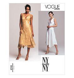 V2745, Misses'/Misses' Petite Dress & Slip