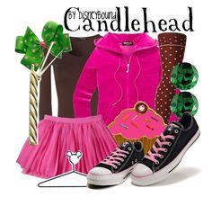 Candlehead by leslieakay on Polyvore featuring polyvore, мода, style, Jane Norman, Juicy Couture, Converse, Crislu, Disney, fashion, clothing and disney