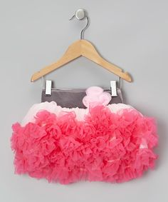 Love this Pink & Hot Pink Rosette Pettiskirt - Infant, Toddler & Girls by Tutus by Tutu AND Lulu on #zulily! #zulilyfinds