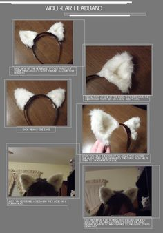 Wolf-ear Headband by Adelheid-AI on DeviantArt Cosplay Diy, Halloween Cosplay, Halloween Costumes For Kids, Anime Cosplay, Halloween 2017, Halloween Makeup, Werewolf Costume Diy, Bat Costume, Family Costumes