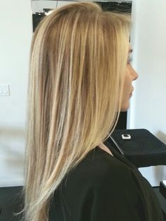 Beach blonde hair.  Balayage highlights. Color by Judy Kasai at Rossano Ferretti Hairspa.