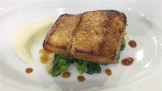 Make the simple honey-soy marinade for chef Laurent Tourondel's black cod recipe today, and tomorrow's dinner will take only 20 minutes Cod Recipes, Honey Recipes, Fish Recipes, Seafood Recipes, Asian Recipes, Healthy Recipes, Healthy Foods, Black Cod, Alfredo Recipe