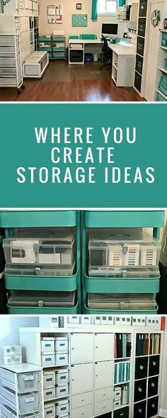 Organization   Where You Create   Creative Spaces   Creative Scrapbooker Magazine #organization #storateideas #scrapbooking
