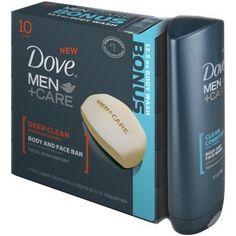 Dove Body Bars for Men + Bonus Bodywash Deep Clean Dove Men Care, Body Bars, Body Cleanser, Face Wash, Deep Cleaning, Bath And Body, Soap, Skin Care, Cleansers