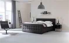 Boxspring Home 240 Dream Bedroom, Master Bedroom, Black White Bedrooms, Wood Interiors, First Home, Florence, Sweet Home, New Homes, Sleep