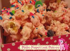 Pinkie's Popped Candy Pinkcorn find this recipe at livelaughchicky.com