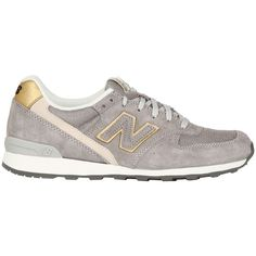 NEW BALANCE 996 Suede & Mesh Sneakers - gray and gold, love these!