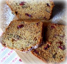 Marie's Best Banana Bread with Cranberries