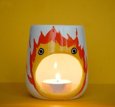Hey, I found this really awesome Etsy listing at https://www.etsy.com/listing/276237500/calcifer-oil-burner-studio-ghibli-howls