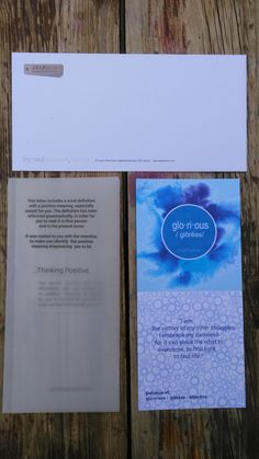 I am glorious positive affirmation card and packaging