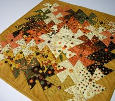 Autumn Wall Hanging Table Topper Button Art by atthebrightspot, $85.00