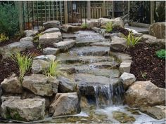 #Stone #water feature by DH Landscape Design