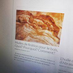 J'ai fait un nouvelle article sur les huiles de finition !... IFTTT Tumblr