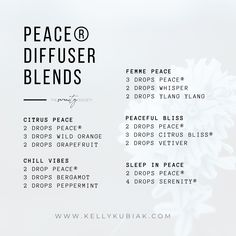 Diffuser Blends using doTERRA's Peace Reassuring Blend Doterra Diffuser, Essential Oil Diffuser Blends, Doterra Blends, Doterra Essential Oils, Oil Mix, Diffuser Recipes, Peace, Education, Young Living