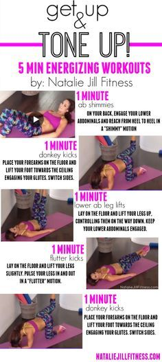 Lower abs, booty,legs and core! You can do these bo… 5 minute FULL BODY workout! Lower abs, booty,legs and core! You can do these body weight workouts ANYWHERE with no equipment! Morning Workout Motivation, Fitness Motivation, Fitness Quotes, Morning Workouts, Workout Quotes, Fun Workouts, At Home Workouts, Weight Workouts, 6 Pack Abs Workout
