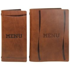 Full Hide Leather Menu Covers, Rustic Style Hard Wearing and Easy to Wipe Clean Brown Saddle Leather www.bhma.co.uk 01353 665141