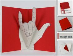Pop up cards with asl (sign language) that is so cool!  Deaf pride!