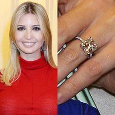 Ivanka Trump wears a 6 carat cushion cut diamond. https://www.facebook.com/SpitzJewelers