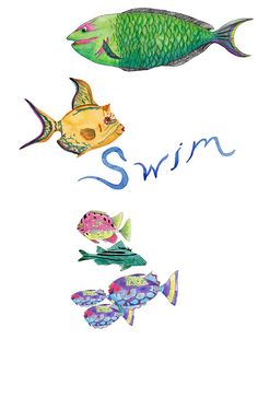 Clip Art Digital Download -Swimming Fish Collection