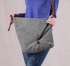 2014 FREE SHIPPING Vintage canvas bag crazy horse leather messenger bag preppy style unisex casual women's handbag