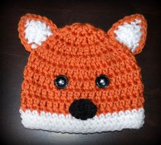 Crochet Fox Baby Beanie Hat  Photo Prop Custom Made Boy Girl on Etsy, $20.00