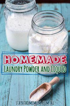 Homemade Laundry Powder and Liquid