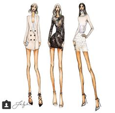Thea granath fashion skeches designer illustrator