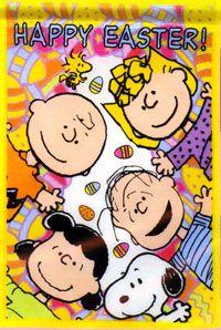 Peanuts Gang Happy Easter Garden Flag 12x18