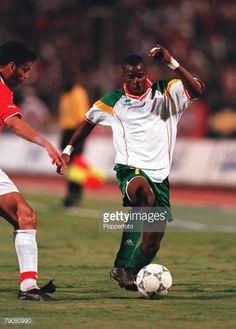 Football 2002 World Cup Qualifier African Second Round Group C 6th May 2001 Cairo Egypt 1 v Senegal 0 Senegal's Henri Camara