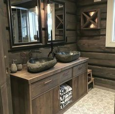 Bathroom Vanity, Bathroom, Vanity, House, Cottage, Rustic Living, Rustic Charm, Double Vanity