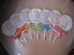 Candyland party - lollipop invitations