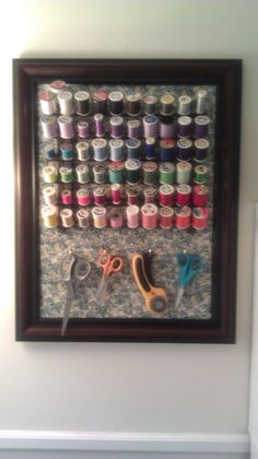 Upcycled picture frame, now in sewing room!