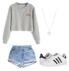 """Sorry I haven't been on"" by godsjules on Polyvore featuring Levi's and adidas"